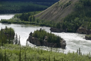 Five Finger Rapids from viewing stop on Klondike Highway (taken on our way back to Carmacks).