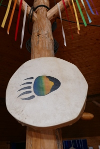 Drum in the Turtle Lodge Circle.