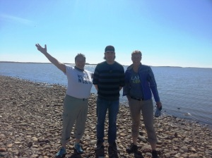 me, Chris and Karen on Arctic ocean