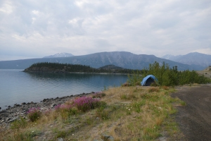 Southern Yukon roadside sleep